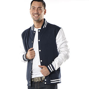 0324 Retro College Jacke Man