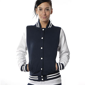0325 Retro College Jacke Girl